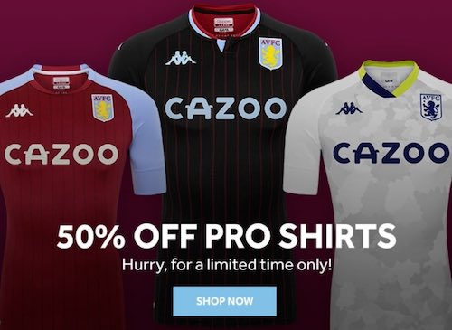 Aston Villa Pro Fit Sale