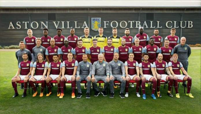 aston villa team group 2018
