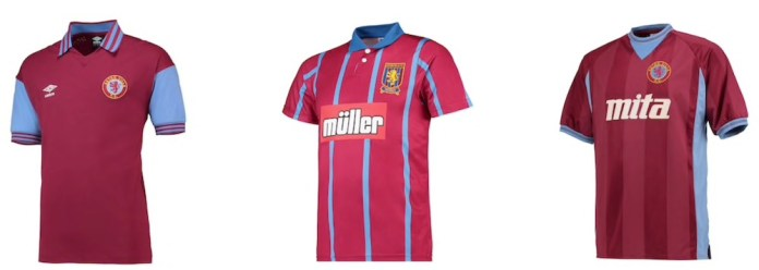 Aston Villa Retro Shirt sale