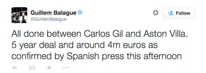 Carles Gil confirmed