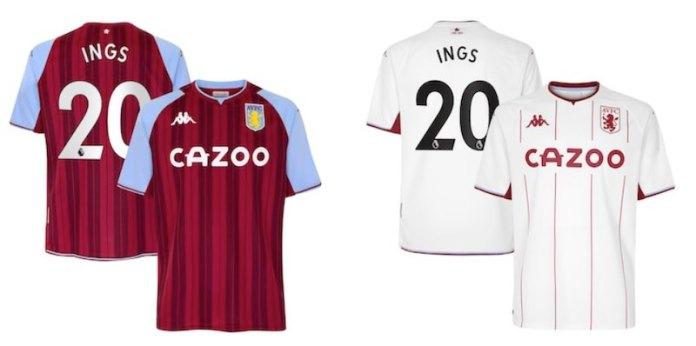 Danny Ings Aston Villa shirt