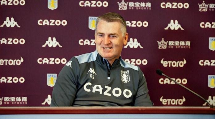 Dean Smith press conference Aston Villa