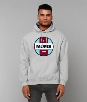 Grey Hoodie MOMS Badge