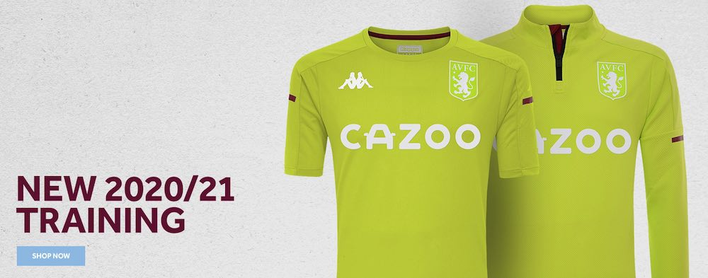 Aston Villa Lime Green training tops