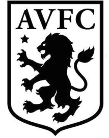 New Aston Villa Badge Black and White