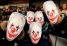 Randy Lerner Clown masks