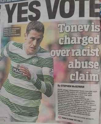 tonev racism claim