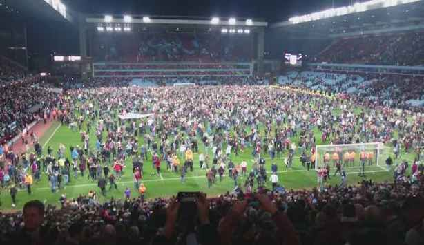 Villa Park Pitch Invasion