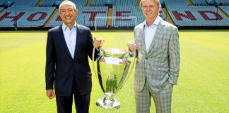 Wes Edens and Nassef Sawiris with European Cup