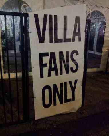 aston villa fans only