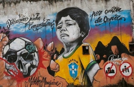 brazil world cup graffiti