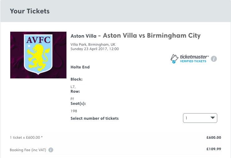 villa blues ticket seatwave