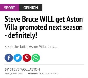aston villa definitely promoted