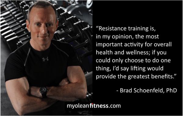 Brad Schoenfeld - Health Benefits of Strength Training Quote - Myolean Fitness