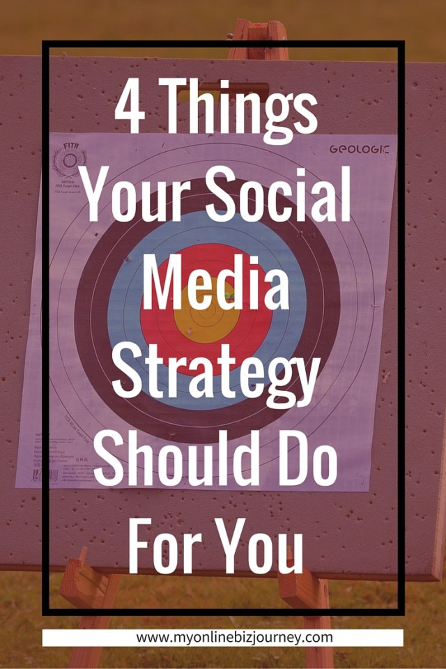 4 things your social media strategy should do for you