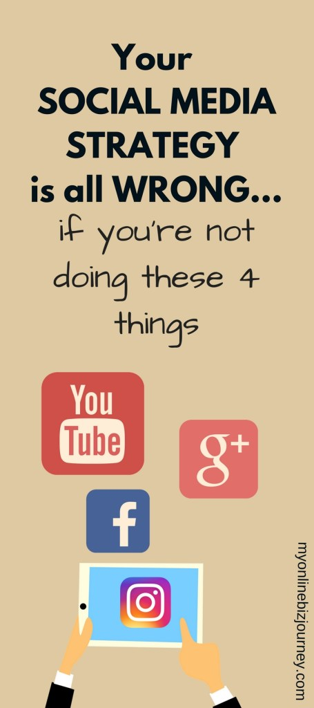 Are you sure you have the RIGHT social media strategy for your blog/business ? Make sure these 4 things are happening or else...it's all wrong.