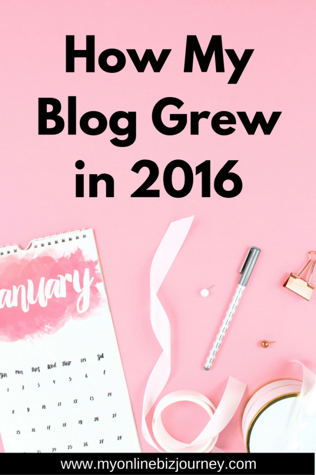 It's been a year since I wrote the post on how my blog grew in 2015. A whole year ! Now here we are at the end of 2016 and I can honestly say that while I am not where I want to be, I am certainly not where I used to be.