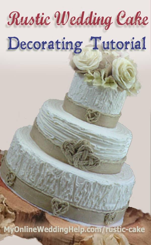 Elegant Rustic Wedding Cake Tutorial No Decorating