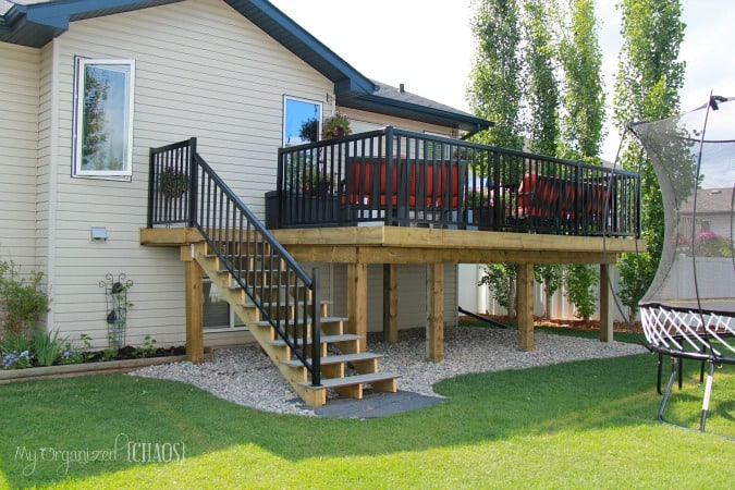 Backyard Renovation, New Deck Reveal! on Patio Renovation Ideas id=89715