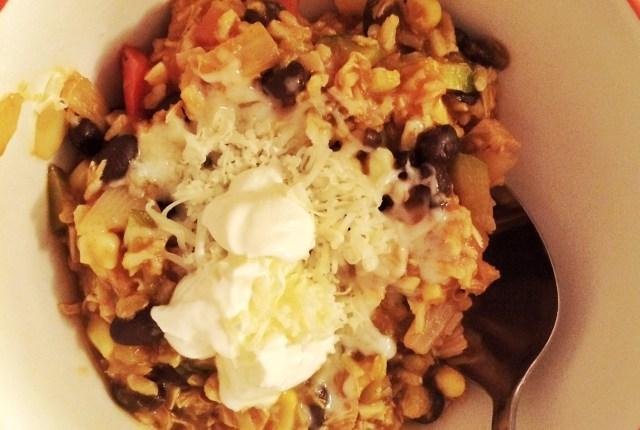 Turkey-Mex Rice | MyOtherMoreExcitingSelf.com #serveturkey #turkeyeveryday #switchtoturkey