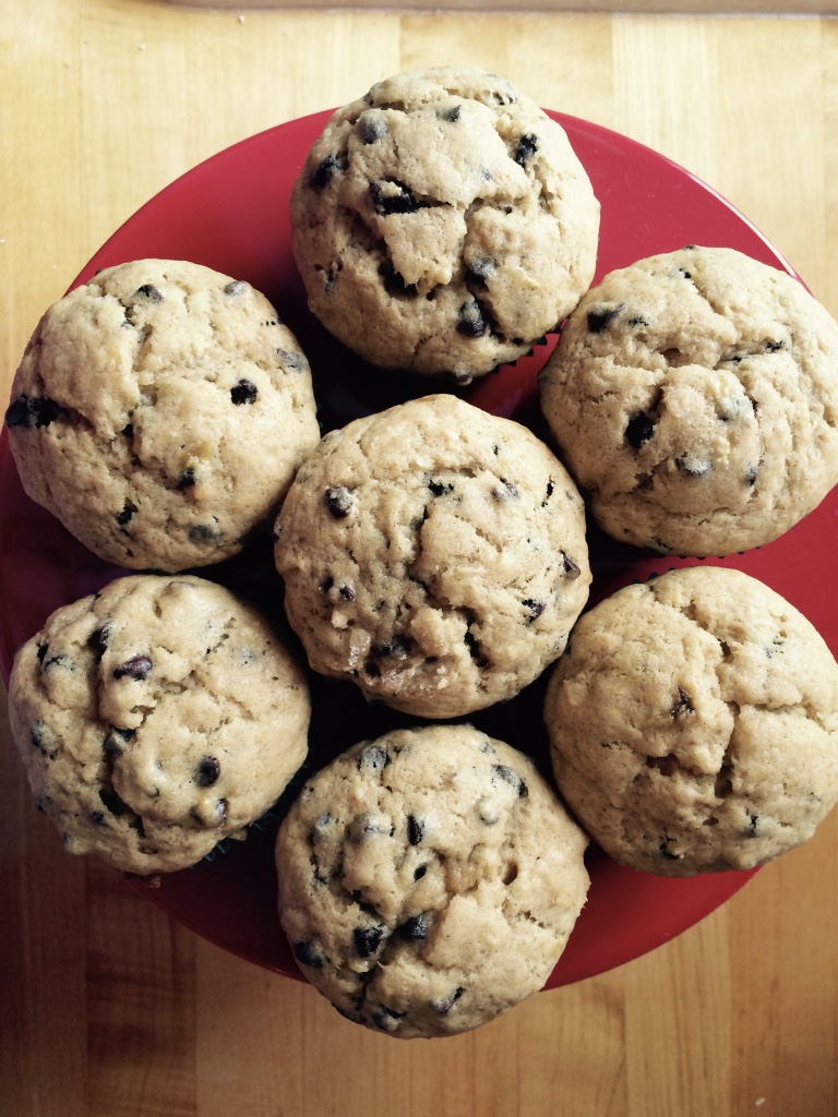 New Favorite Banana Chocolate Chip Muffins My Other More Exciting Self Choco Chips Recipe Via Baking