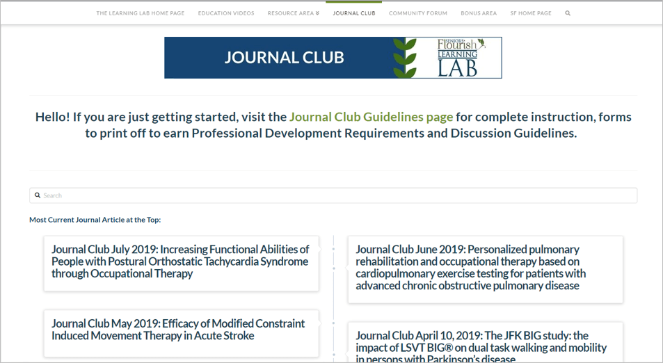 Learning Lab journal club
