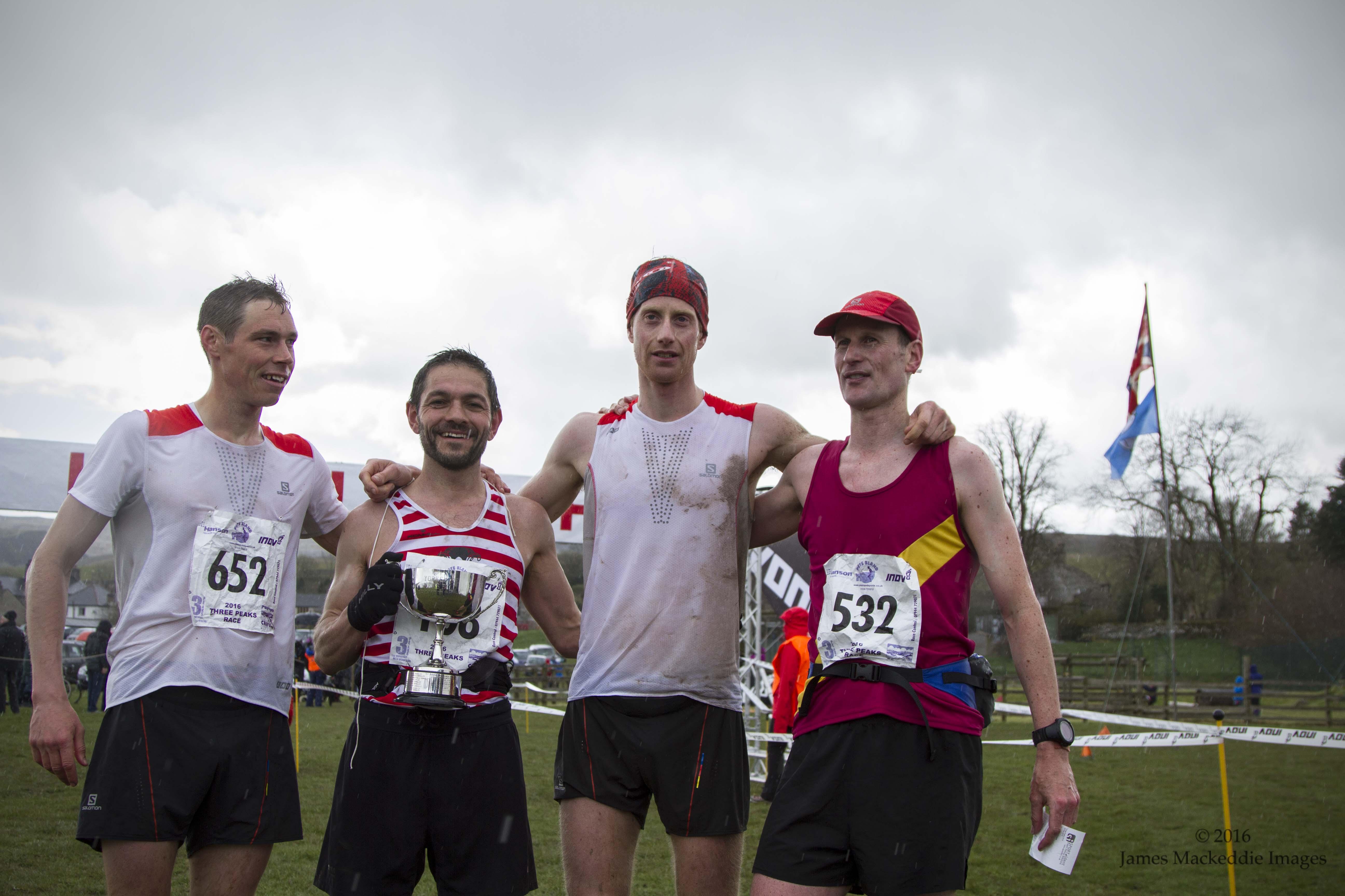 3 Peaks Fell Race Finish Ricky craig tom