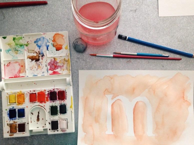 watercolor M - MOBOH