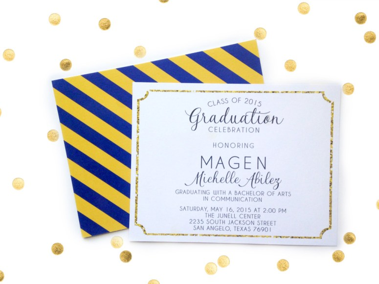 My Own Brand Of Happy | 4 Tips to  Get Graduation Announcements that Rock