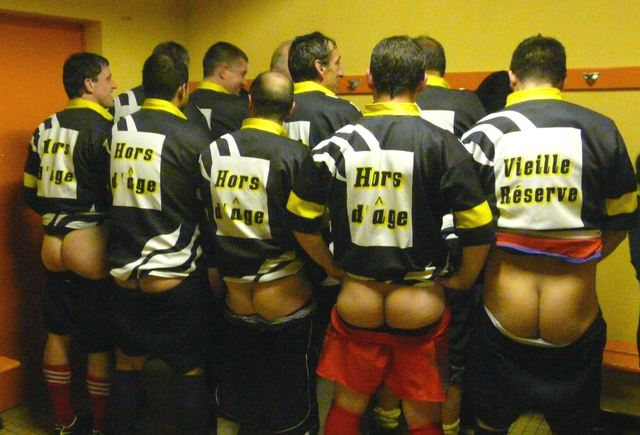 rugby players showing ass