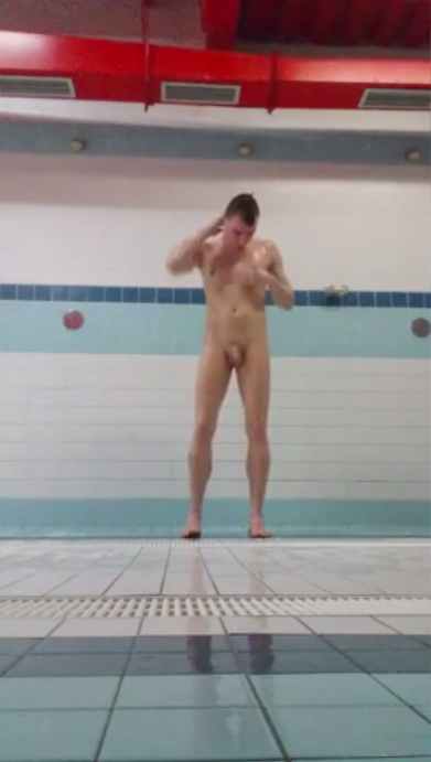 Hunk naked in showers