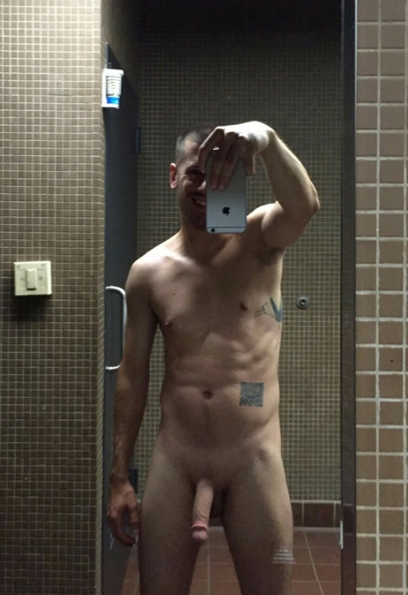 Hunk naked self pics in the dressing room (2)