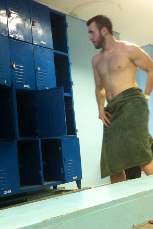 guy naked at locker room