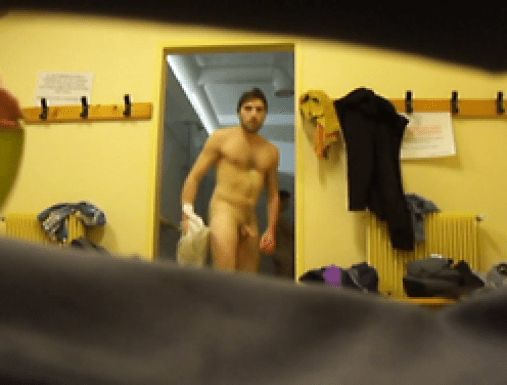 Hot guy spied after showers (4)