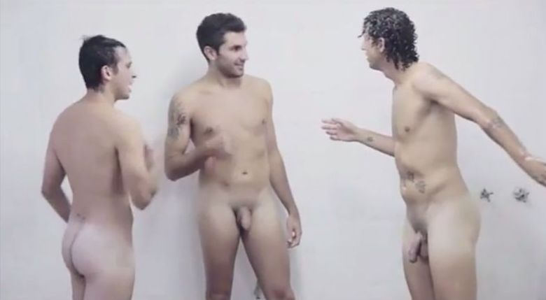argentinian soccer players naked in showers