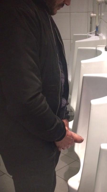 big-uncut-thick-dick-caught-at-urinals