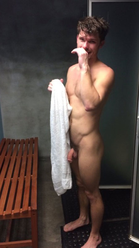 hung-buddy-caught-drying-off-after-showers