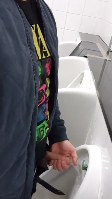 playing-with-own-pee-at-urinals