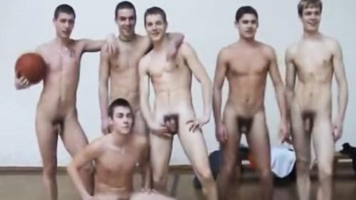 naked-young-basket-players-otside-the-locker-room