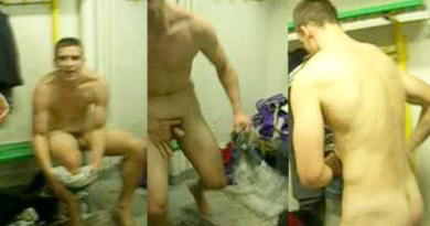 sexy-footballer-exposed in changing room