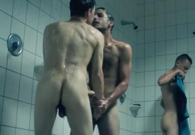 Ambiance in men's shower room_András Sütö and Sebastian Urzendowsky bare all in hot showers scene