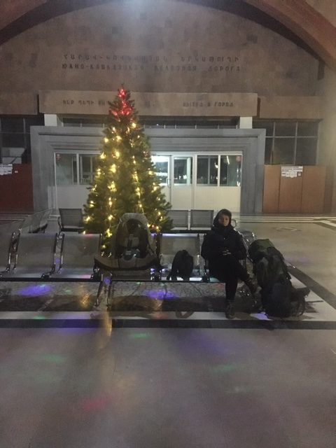 una fredda stazione ferroviaria - viaggio in Armenia 2019 My Own Way 15