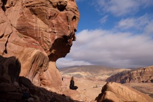 Rock Head in Petra