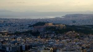 vue de l'Acropole depuis le Mont Lycabette