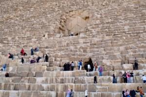 L'entrée de pyramide la pyramide Kheops