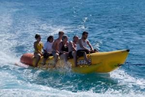 faire de la banane à Orange Bay !