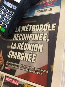 Annonce du re confinement en France