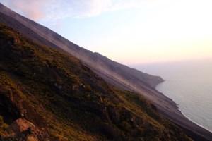 coulée de lave du Stromboli
