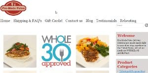 Premade Paleo, home page pictured, offers a large menu that is both Paleo, Whole 30 approved, as well as for the most part offers scd food for sale. These would be the equivalent of scd frozen meals, but you will have to consult their ingredient list to confirm which of the meals are appropriate for the SCD diet. If you are considering crohns meal delivery, getting gaps meals delivered or other types of specialty healing diets, you should definitely consult their vast menu to see if any of the options will suite your needs.