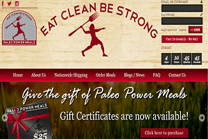 This is a screenshot of the Paleo Power Meals website. Paleo Power Meals is a Boston area based meal delivery Paleo chef service that allows you to stay up to date with your Paleo regimen to support your healthy active lifestyle. Originally serving just the Boston area, they have switched to offering shipping nationwide for their Paleo dinner delivery. If you are looking to get your Paleo meals delivered to your home, especially if you live in the Northeast, Paleo Power Meals likely makes a lot of sense to work with. The days of having to cook all your Paleo compliant meals from scratch at home are over as companies like Paleo Power Meals are now making it possible to order Paleo food online no matter where in the country you live.
